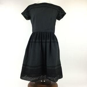 Madewell Black Eyelet Dress